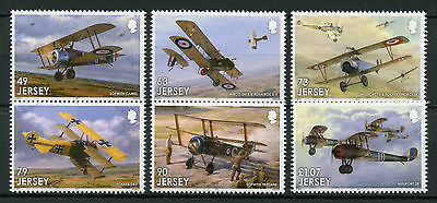 Jersey 2017 MNH WWI WW1 Pt 4 Great War in Air 6v Set Military Aviation Stamps
