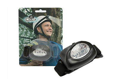 Bright 5 LED Head Torch Camping Light Outdoor Hiking Lamp - Battery Operated