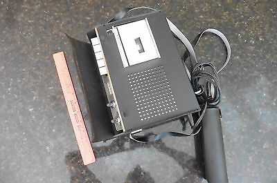 Vintage Bell & Howell Cassette Voice Recorder recording device w/ Mic & case