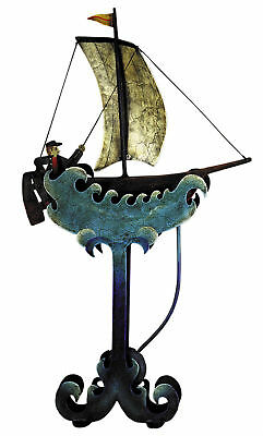 Nautical Riding The Waves Sailboat Teeter Totter Tin Balance Toy New