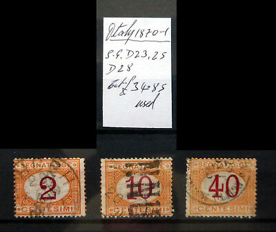 ITALY 1870 Postage Dues As Described NB3036