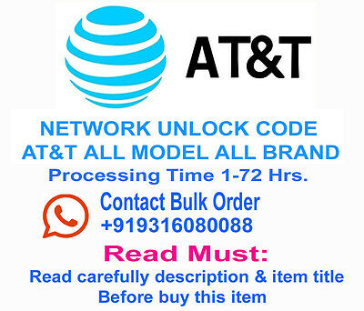 Network Unlock Code/Pin AT&T Samsung Note 4 IV N910A - FACTORY UNLOCK