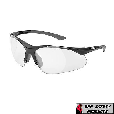 Elvex Rx-500C Full Magnifier Reader Safety Glasses Clear Lens 0.5-2.5 Strength