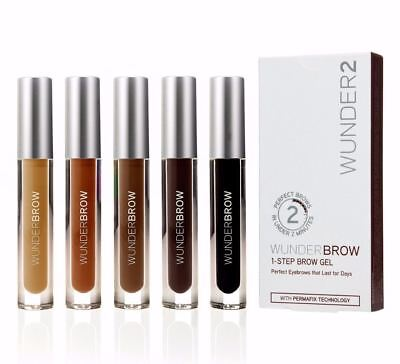 Wunderbrow Wunder2 Black/Brown/Auburn 5 to Choose Perfect Eyebrow Gel Waterproof