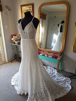 Low back bohemian style Wedding gown Custom made to measure
