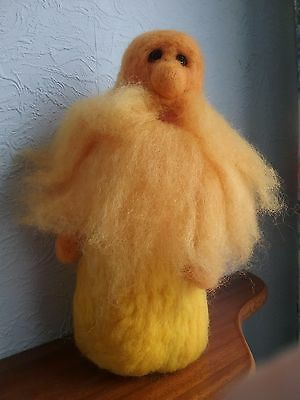 Sun Wizard, Gnome, Elf  27cm tall OOAK Handmade Needle Felted