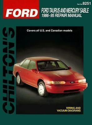 chilton repair manual guide ford taurus sho mercury sable 1986 1995 rh picclick com 1999 Taurus SHO Taurus SHO V8