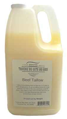 Beef Tallow grass fed beef, Soap making supplies. 7 pound Gallon.