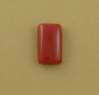 Small Rectangle Cabochon, old stock rosarita glass, 16x10x5mm coral substitute