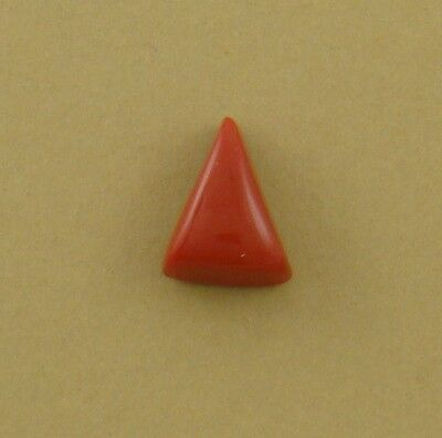 Small Triangle Cabochon, old stock rosarita glass, 15x11x7mm coral substitute