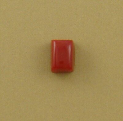 Tiny Rectangle Cabochon, old stock rosarita glass, 11x8x7mm coral substitute
