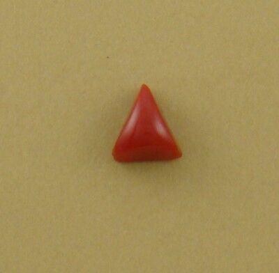 Tiny Red Triangle Cabochon, old stock rosarita glass, 10x9x6mm coral substitute