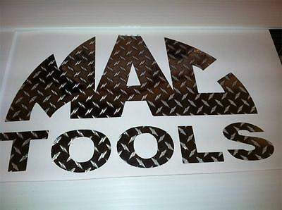 DIAMOND PLATE MAC TOOLS Tool Box Emblem 3x6  CAR TRUCK TOOL BOX DECAL STICKER