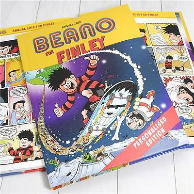 Personalised Beano Annual 2018 Edition Classic Book Gift Dennis Mennace Gnasher