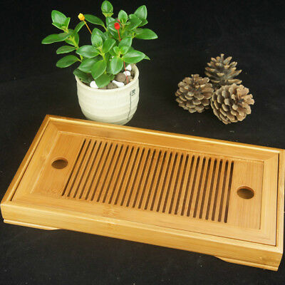 Tea Table Portable Tasteful Bamboo Chinese Gongfu Serving Tray For Home Garden