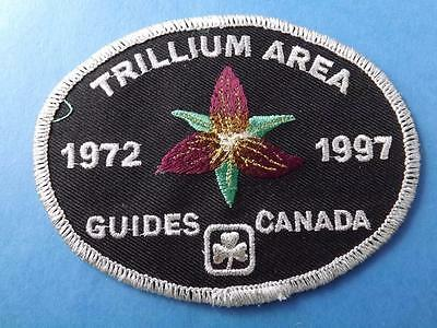 Girl Guides Trillium Area 1972 1997 Anniversary Vintage Patch Collector Badge