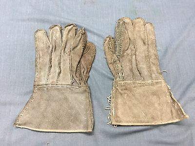 MILITARY GRADE BARB Wire Razor Handler Leather Gloves Heavy Duty ...