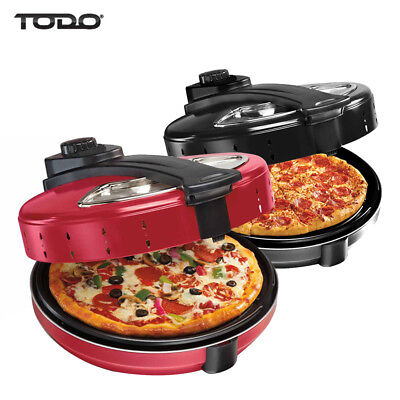 TODO 1200W ELECTRIC PIZZA MAKER OVEN GRILL 30cm 360° ROTATING BASE PLATE XJ-6...