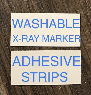 2 Sets X-Ray Marker WASHABLE Adhesive Strips FREE SHIPPING Lead xray