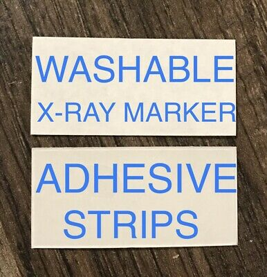 5 Sets X-Ray Marker WASHABLE Adhesive Strips FREE SHIPPING Lead xray