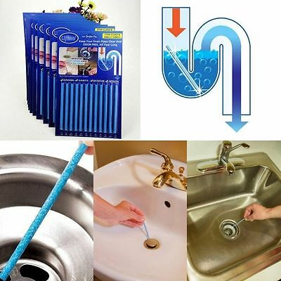 12 Pack Sani Cleaing Sticks Keep Your Drains Pipes Clear Kitchen Soap Sink EA C6