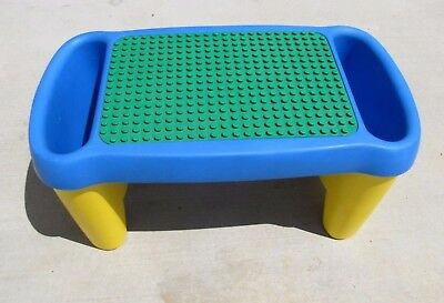 Lego Duplo PLAY TABLE 24x12x12 BRICK STORAGE Legs Building Plate on Top 1998