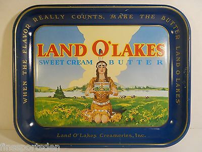 Vintage LAND O'LAKES CREAMERIES Advertising Tray ~ Dairy Sweet Cream Butter