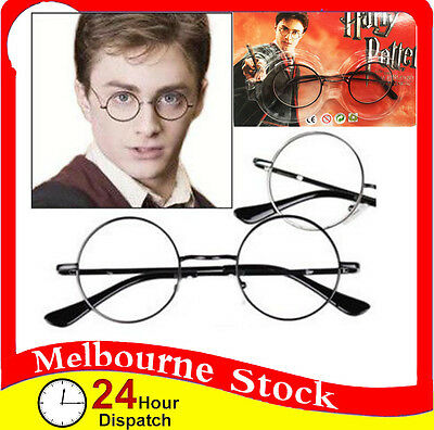 Black Harry Potter Round Frame Glasses Spectacles Hogwarts Wizard Cosplay Party
