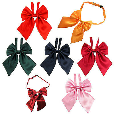 Pink Women Adjustable Pure Color Women's Bow Tie X8Y4