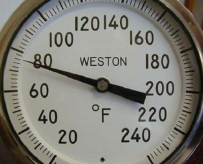 "5"" Weston Stainless Thermometer MODEL 4503   20-240 °F 1/2"" NPT, 4"" Stem NIB"