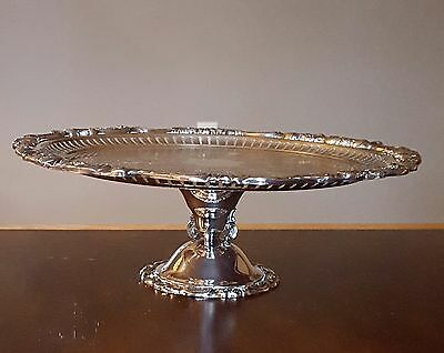 Wallace Baroque Silverplate Cake Stand 13 1/2""