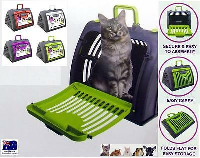 Pet Cat Dog Carrier Crate Bag Portable Travel Cage House Kennel Foldable