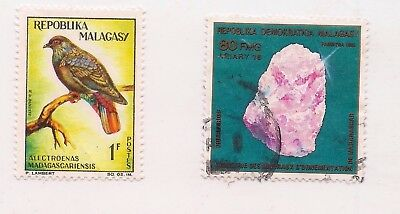 2 MALAGASY stamps.