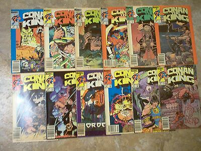 CONAN THE KING, Marvel Comics #20--#31 1984,1985.
