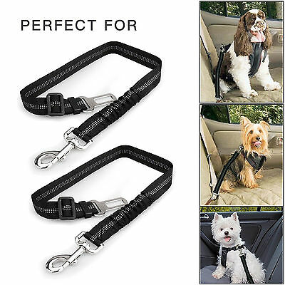 New 2 Pieces Extreme Hardness Dog Pet Car Safety Seatbelt Travel Strap Leash-US
