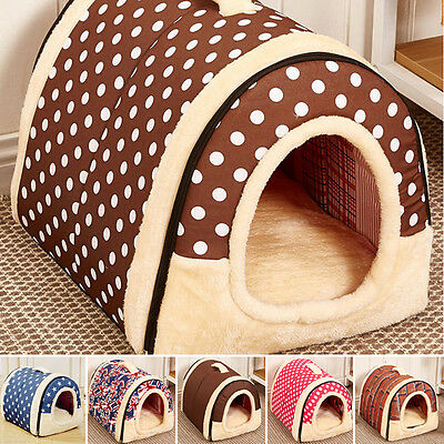 Pet Dog Cat Cage Kennel Bed Cushion Warm Soft Cozy House Mat Pad Washable Puppy