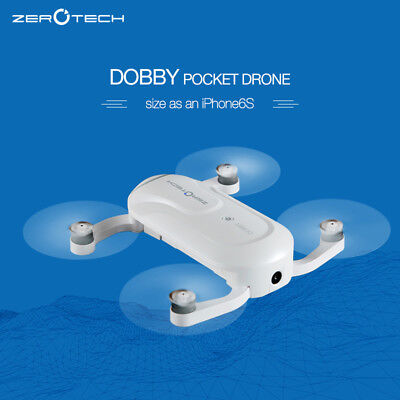 Stock Clearance ZEROTECH Dobby Pocket Drone w/ 4K HD Camera and 3-Axis Gimbal