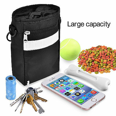 Smart Dog Treat Training Pouch Bag Easily Carries Pet Toys Kibble  3-Way To Wear