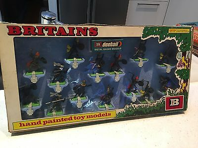 Britains Boxed Black Knights Presentation Set 1970's Made In England
