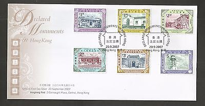 Hong Kong 2007 Official Monuments Fdc Sg,1471-1476 Lot 4841A