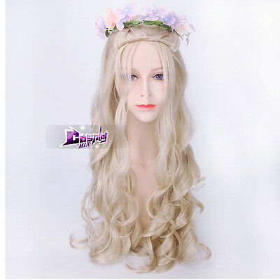 A song of ice and fire Daenerys Targaryen 28'' Light Blonde Long Cosplay Wig