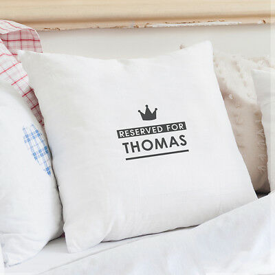 Personalised Reserved for... Cushion Cover ANY NAME ADDED Wedding Gift AP0510E04