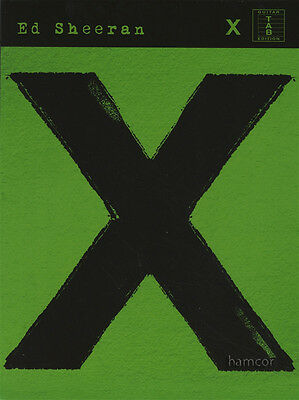 Ed Sheeran X Guitar TAB Edition Sheet Music Book (Multiply)