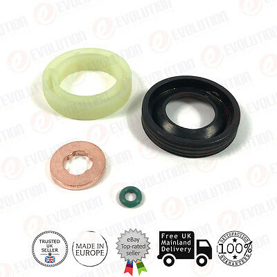 FORD FUEL INJECTOR SEAL + WASHER + ORING FOR FOCUS / C-MAX / VOLVO 1.6 TDCi