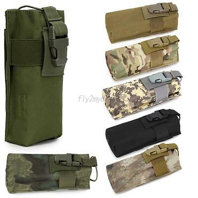 Outdoor Tactical Airsoft Military Molle Radio Walkie Talkie Belt Pouch Bag Case