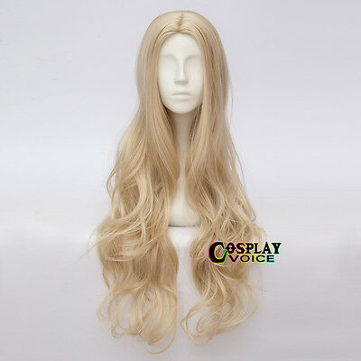 Long Wavy Light Blonde Lolita Basic 80cm Fashion Party Synthetic Cosplay Wig