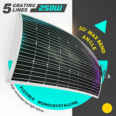 300W Folding Solar Panel Kit 12V Mono Camping Caravan Boat Charging Power USB