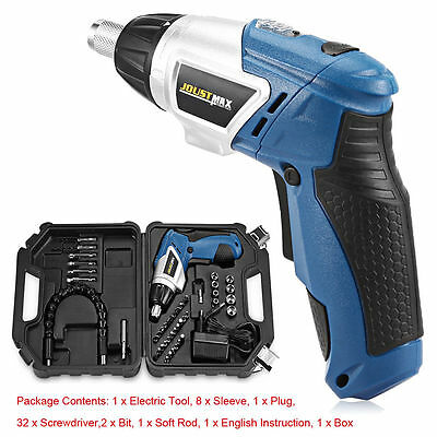 180 Degree Rotation Rechargeable Electric Screwdriver Set screw in all angles