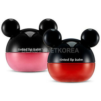 [THE FACE SHOP] Disney Tinted Lip Balm 6g 2 Color / Mickey Mouse