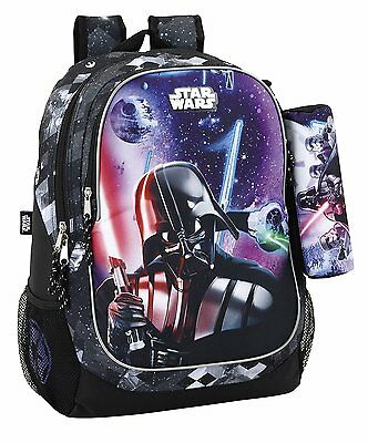STAR WARS Mochila grande + estuche /black backpack/sac à dos/zaino